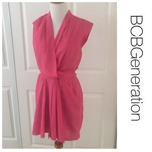 BCBGeneration Hot Pink Pocket Dress 2